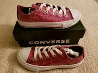 NEW Girls Pink Glitter Converse Shoes 13 Santa Maria, 93455