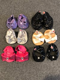6 pairs of build a bear workshop shoes