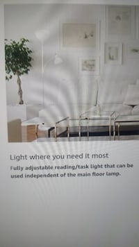 Simple design floor lamp with reading light silver multi functions