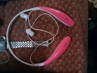 white and pink corded headphones Springfield, 65803