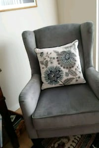 two gray and black floral sofa chairs Bismarck, 58503