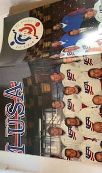 1996 World Cup Hockey Poster New Old Stock  Brian Leetch  Manalapan, 07726