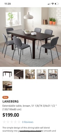 Extendable brown table Toronto, M5V 1P7