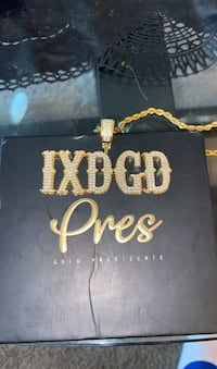 """IXDGD"" Chain and Pendant by Pres: Gold Presidents Arlington, 22206"