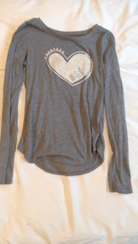 Abercrombie Kids Grey Sparkle Long Sleeve Shirt Windsor, N9B 3W4
