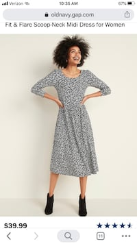 Old Navy- Fit & Flare Scoop-Neck Midi Dress XS or S New York, 11105