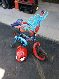 toddler's spiderman bicycle with training wheel London, N6G 5K9