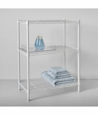 NEW* 3 Tier White Metal Shelving Unit 30x23x13 Textured Adjustable  Westerville, 43081