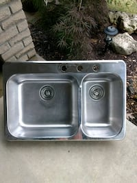 stainless steel sink with faucet London, N6K 3H7