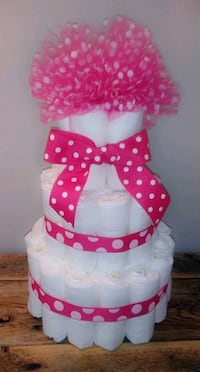 Hand made Polka Dotted Diaper Cake Annapolis, 21403