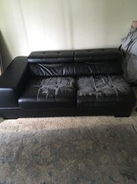 black leather tufted sectional sofa San Diego, 92154