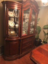 Brown Wooden China Buffet Hutch Cabinet FOR SALE Newmarket, L3X 2Y3
