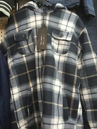 black and gray checked long sleeve top