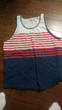 white and red striped tank top Philadelphia, 19114