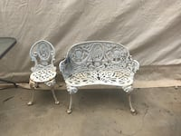 Cast iron kids bench and chair  Cottondale, 35453