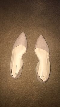 pair of white leather flats Suffolk, 23434