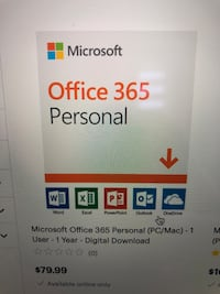 Microsoft office 365 personal 1 year English Laval, H7W 3S3