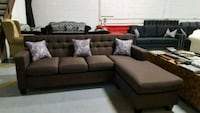 brown fabric sectional sofa with throw pillows 3119 km