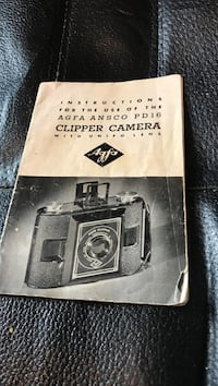 Vintage Instructions for the AGFA Ansco PD16 Clipper Camera With Unifo Lens. 10.00 Orchard Hills, 21742