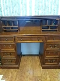 brown wooden roll-top desk Washington Township