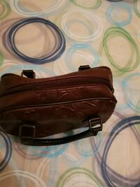 brown leather 2-way bag Jersey City, 07304