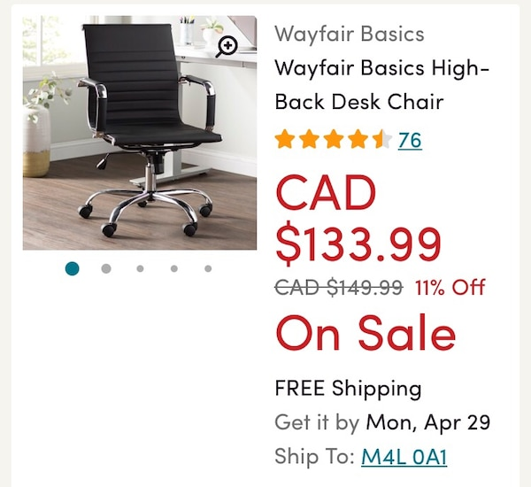 black and gray leather padded rolling chair screenshot