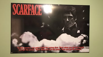 Very big scarface poster