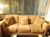 brown fabric 3-seat sofa 20 mi