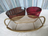 3 assorted baskets Burlington