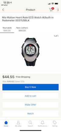 Mio Motion Fit Heart Rate Watch