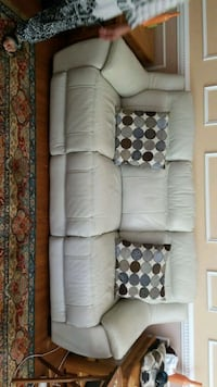 Two 3 seater leather couch Woodbridge, 22191
