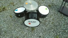 Drum set without sticks & foot pedal for kids