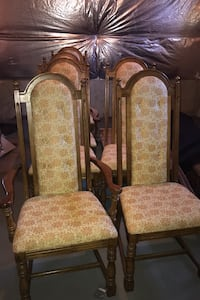 All wood dining chairs (set of 6)