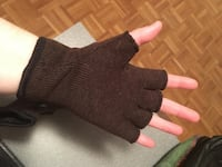 Fingerless gloves, brown  CALGARY