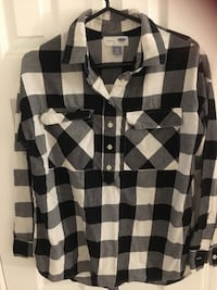 Black and white check shirts for woman Fairfax, 22033