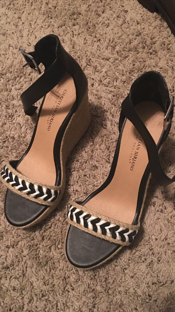 letgo - womens pair of brown-and-black high... in Ocala, FL