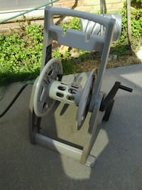 gray and black hose reel cart Troy