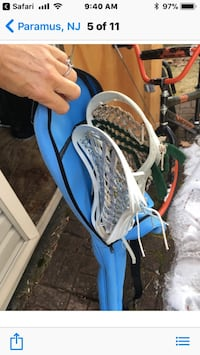 2 Lacrosse sticks with bag