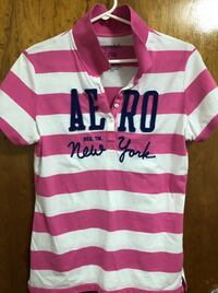 Pink and white stripe polo shirt Mississauga, L4Y 2J4