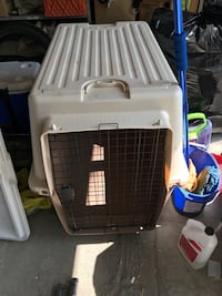 white and black pet carrier Coaldale, T1M