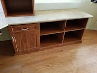 brown wooden TV stand with cabinet Las Vegas, 89139
