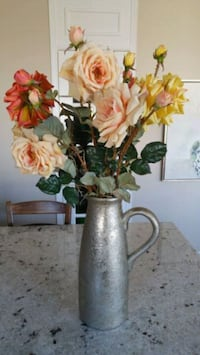 pink, yellow, and red roses centerpiece Kitchener, N2P 2Y2
