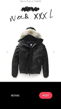 Trade real xxl Canada goose for same xxl