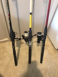 3 rods and reels 75 all 3 43 km