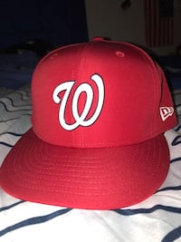size  7 1/4 Washington Nationals Hat Manassas, 20112