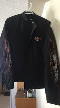 Black and red zip-up jacket Sylvan Lake, T4S 2L5