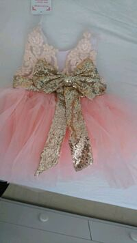 women's pink and silver dress Greater London, E9 5BB