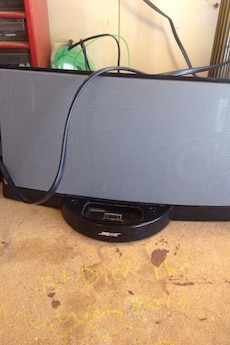 Black and gray Bose docking speaker