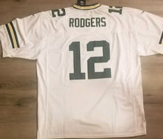 Packers #12 Rodgers mens medium Jersey