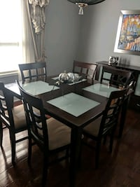 Dining Table with six chairs and sideboard Brampton, L7A 2R6